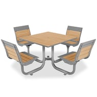 Beacon Hill Recycled Plastic Table, 4 Swivel Seats