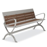 Beacon Hill Recycled Plastic 6' Contour Bench