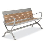 Beacon Hill Thermory 6' Contour Bench