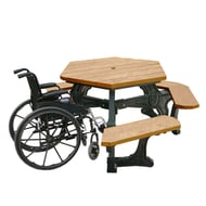 Polly Products Plaza Hexagonal Wheelchair Accessible Picnic Table