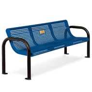 Ultra 6' Perf Steel Commemorative Bench, Portable/Surf Mnt