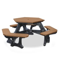 Polly Products Economizer Plaza Hexagonal Picnic Table