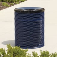Anova Ultra 32 Gal Expanded Steel Trash Receptacle, Contour Top