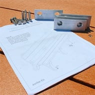 Anchor Kit for PLP Recycled Plastic Benches and Tables