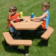 Polly Products Child's Hexagon Picnic Table