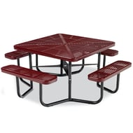 Anova Square Slotted Steel Table, Portable Frame