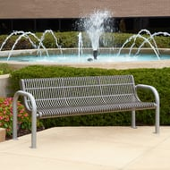 Ultra 6' Slotted Steel Bench, Portable/Surface Mount