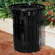 Rendezvous 55 Gallon Trash Receptacle, Convex Top