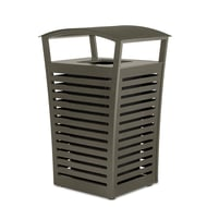 Exposition 22 Gallon Trash Receptacle/Recycler, Side Door