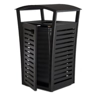 Exposition 33-Gal Plastic Receptacle/Recycler, Side Door