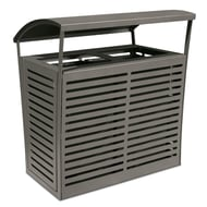 Exposition 70 Gal Trash Receptacle/Recycler, Side Doors