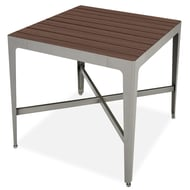 "Anova Mixx 42"" Square Recycled Plastic Bar Height Table"