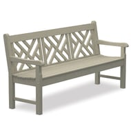 Polywood Rockford 6' Recycled Plastic Chippendale Bench
