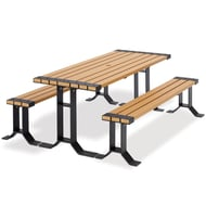 Wainwright 6' Picnic Table and Benches Set
