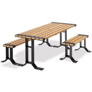 Wainwright 6' ADA Picnic Table and Benches Set