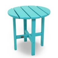 Polywood® Round Recycled Plastic Side Table, Vibrant Colors