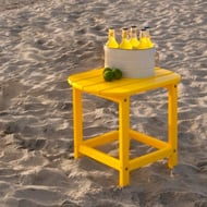 Polywood® South Beach Rectangular Recycled Plastic Side Table, Vibrant Colors