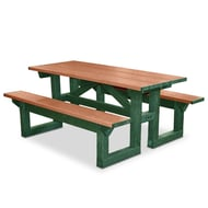 Polly Products Polly Tuff Step Thru 6' Rectangular Picnic Table