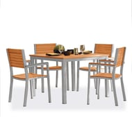Oxford Garden Travira Tekwood Dining Table and Chair Combo