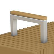 Anova Infinity Steel Armrest with RPL Cap for 2' W Bench
