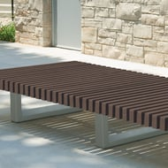 Anova Infinity 4' x 10' Linear Recycled Plastic Bench