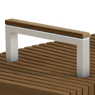 Anova Infinity Steel Armrest with Thermory Cap for 4' Wide Bench