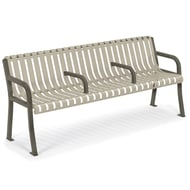 Anova Streetside 6' Contour Bench with Divided Seating