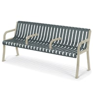 Streetside 6' Contour Bench with Divided Seating
