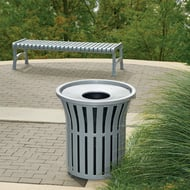 Rendezvous 32 Gallon Trash Receptacle, Contour Top