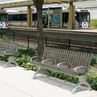 Anova Latitude 6' Contour Bench with Divided Seating