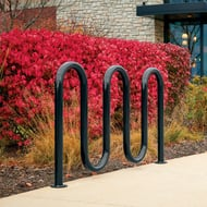 Metro 7-Bike/5-Loop Rack, Powder Coated, Surface Mount