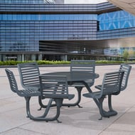 Anova Exposition Table with 6 Contour Seats