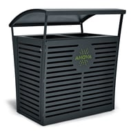 Exposition 70 Gallon Receptacle/Recycler with Custom Two-Tone Door