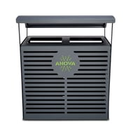 Anova Exposition 70 Gallon Receptacle/Recycler with Custom Two-Tone Door