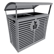 Exposition 70 Gallon Custom Trash Receptacle/Recycler