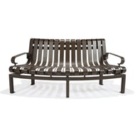Texacraft Outside Circular Slat Bench with Two Arms
