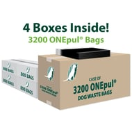 Upbeat ONEpul Dog Waste Bags - Case of 3200 Bags