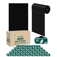 Upbeat Dog Waste Roll Bags - Case of 6000 Bags