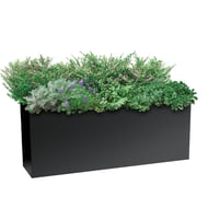 "Planters Perfect 40"" Rectangular Low Series Rimmed Aluminum Planter"