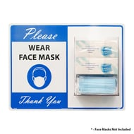 National Marker Company Face Mask Station - Please Wear Face Mask