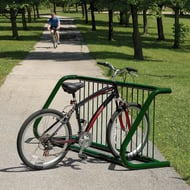 Ultra Single-Side Bike Rack, Low-Profile Fusion Adv Fin, 7-Bike Capacity