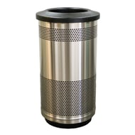 WITT Stadium Series Standard 35 Gallon Stainless Steel Receptacle with Flat Top