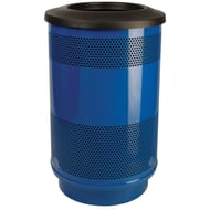 Stadium Series Standard 55 Gallon Perforated Steel Receptacle with Flat Top