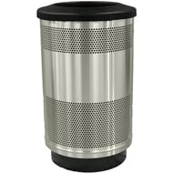 Stadium Series Standard 55 Gallon Stainless Steel Receptacle with Flat Top