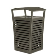 Exposition 22 Gal Receptacle/Recycler, Side Door, Low-Profile Fusion Advantage Finish