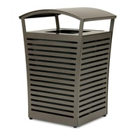 Exposition 45 Gal Receptacle/Recycler, Side Door, Low-Profile Fusion Advantage Finish