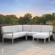 Oxford Garden Travira Modular Loveseat with Cushions and Left Armrest