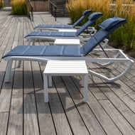 Grosfillex Sunset Comfort Stacking Chaise Lounge, Case of 2