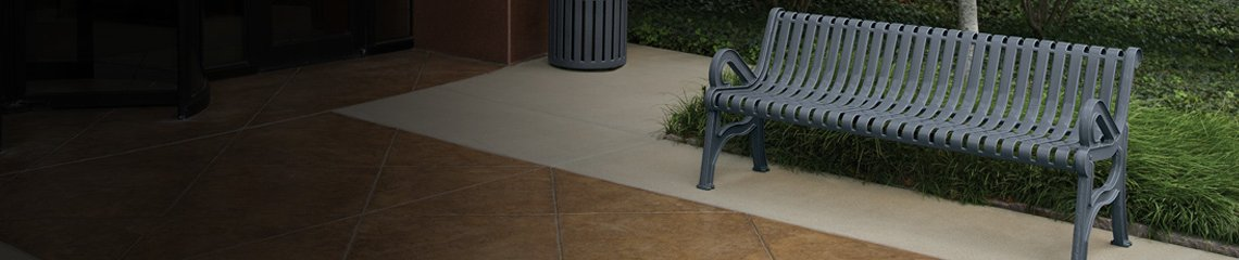 Contour Benches with Back