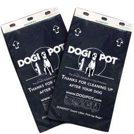 DOGIPOT Dog Waste Bags - Case of 20 Header Packs (2000 Bags)